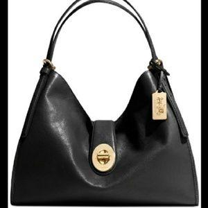 Coach Phoebe Black Leather Shoulder Bag